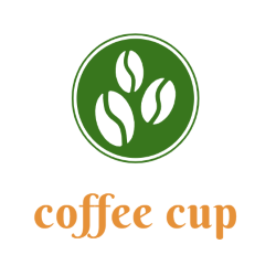 Exemplary logo of coffee cup