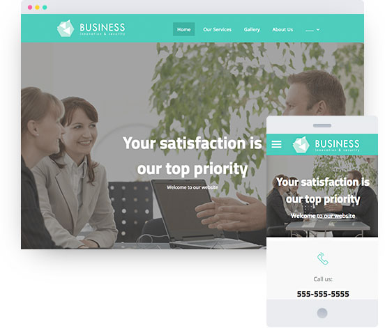 MyWebsite template for company website