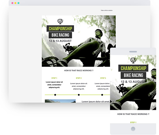 Website Radrennen, Template Sport MyWebsite