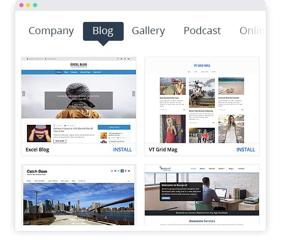 WordPress Blog; Blog Template