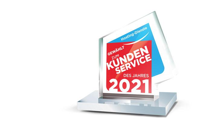 Auszeichnung Kundenservice des Jahres 2021