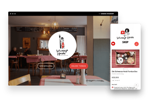 Schwarze Heidi Restaurant Bar Online-Shop