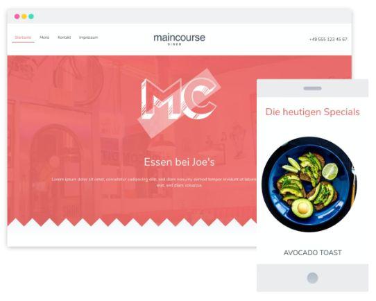 Mywebsitenow templates restaurant DE