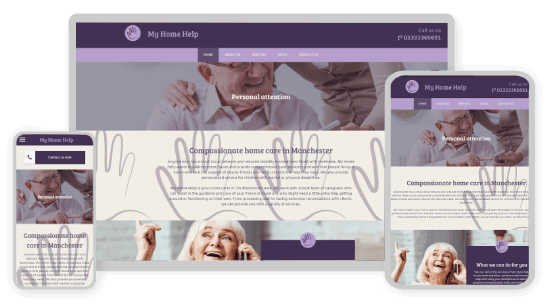 MyWebsite design service example health care