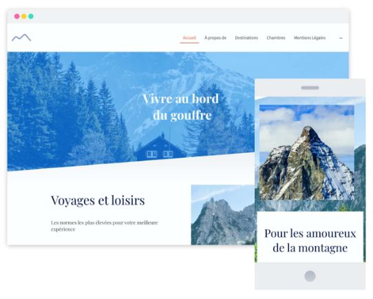 MyWebsite Now Template Travel