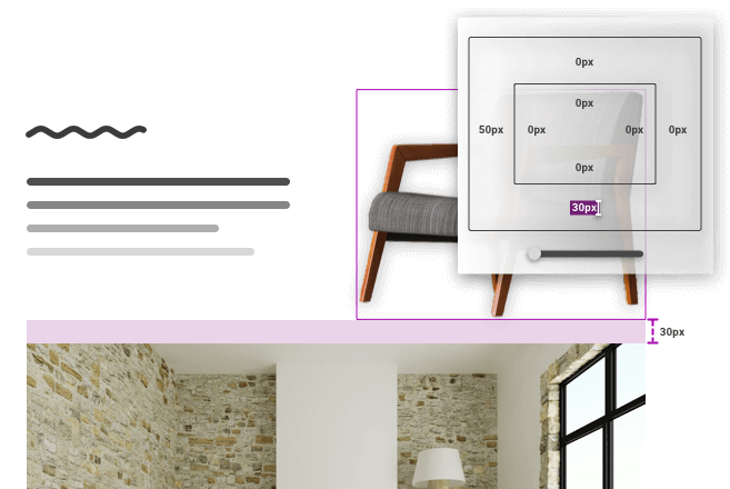 Graphical display of how to adjust the pixels of an image with MyWebsite