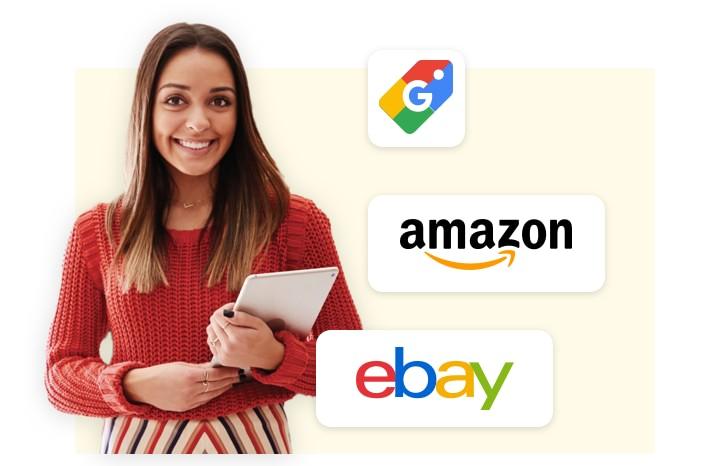 Verkaufe auf Marktplätzen wie Amazon, eBay oder Google Shopping