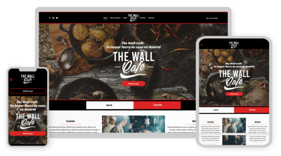MyWebsite design service example restaurante