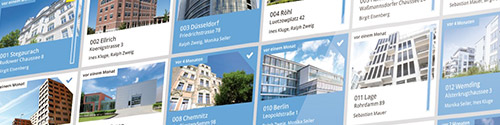 Collage von Immobilien