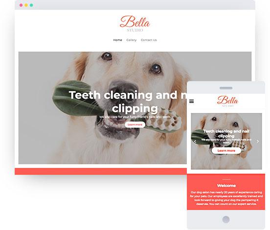 MyWebsite template for veterinary practice website