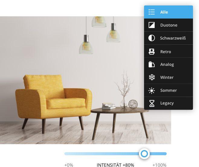 Ein Bild, wie man ein Foto in dem Website Editor bearbeiten kann
