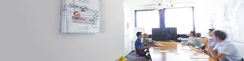 A team meeting in an office