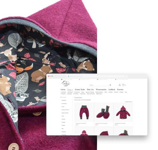 Jacken im Meilisu Online-Shop für selbstgenähte Baby- & Kinderkleidung, Kissen, Decken und vieles mehr