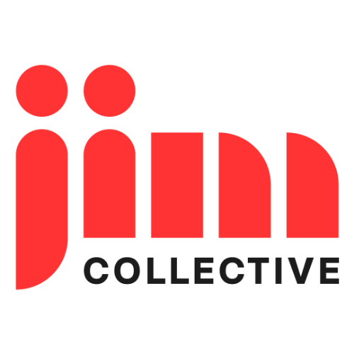 El logotipo de Jim Collective en Barcelona