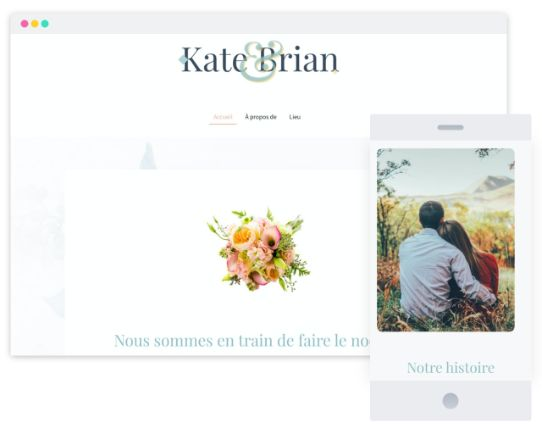 MyWebsite Now Template Wedding