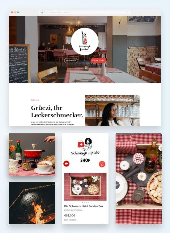 Schwarze Heidi - Website Webhosting und Online-Shop von IONOS