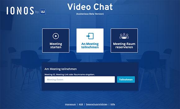IONOS Video Chat starten
