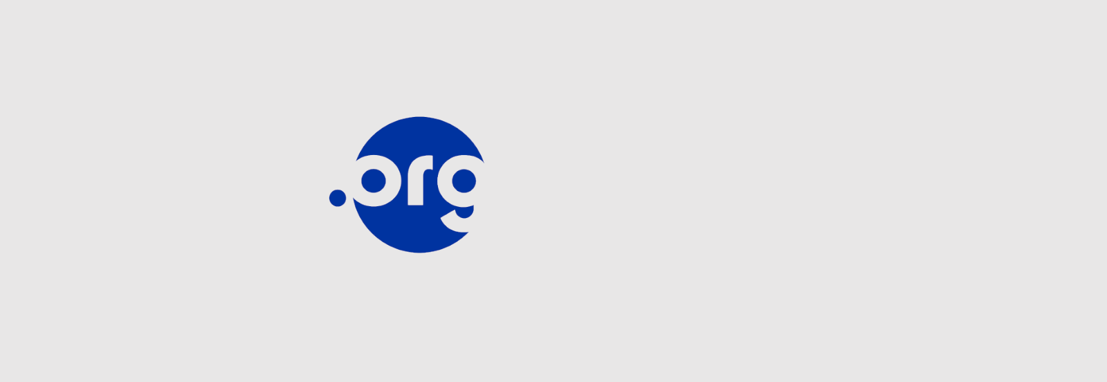 .org logo on a gray background