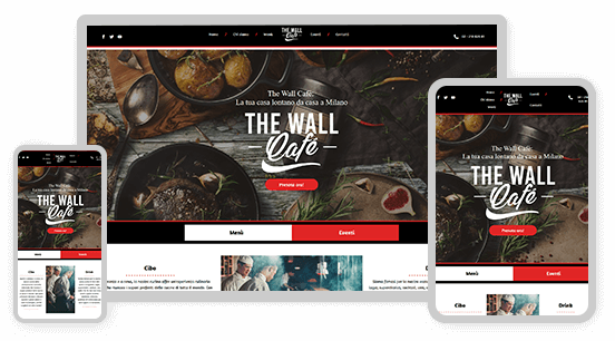 template wall cafe