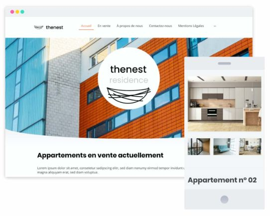 MyWebsite Now Template Real Estate