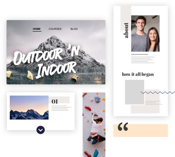 """""""Screenshot einer Website """"""""Outdoor`n Indoor"""""""""""""""