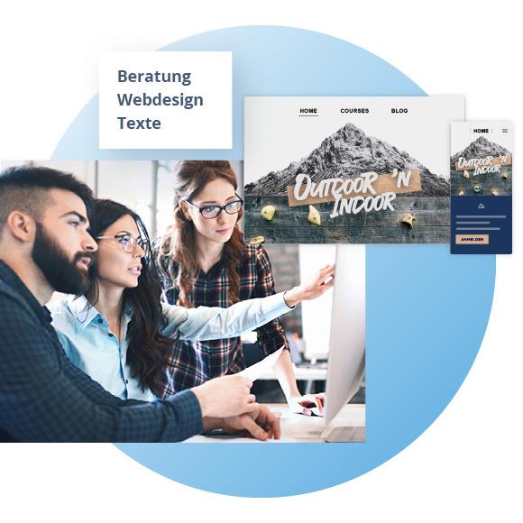 MyWebsite Design Service. Das Expertenteam bestehend aus Webdesigner, Berater und Texter
