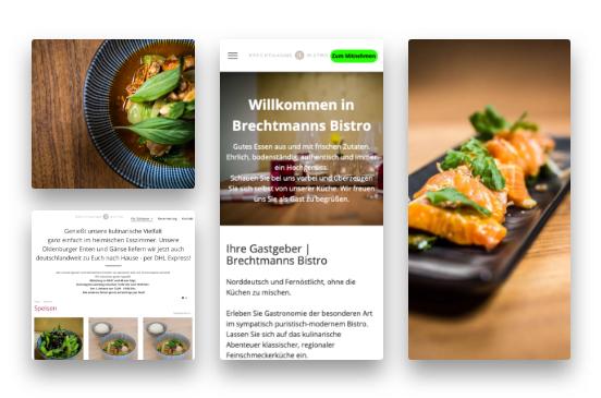 Brechtmanns Bistro Website Vorschau