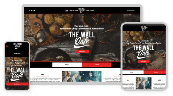MyWebsite design service example restaurant