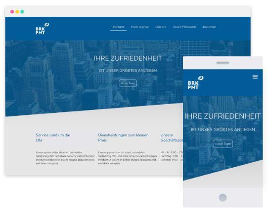 Mywebsitenow templates business DE