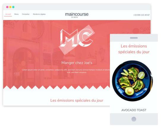 MyWebsite Now Template Restaurant