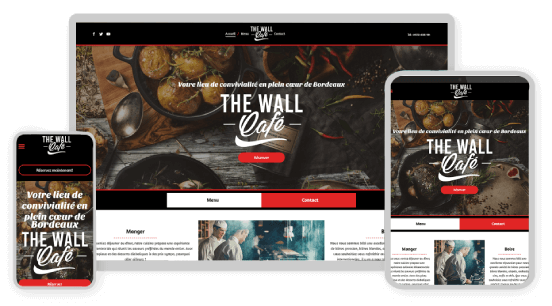 MyWebsite design service example cafe