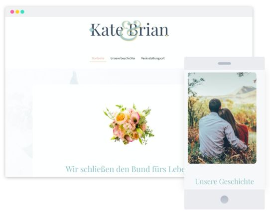 Mywebsitenow templates wedding DE