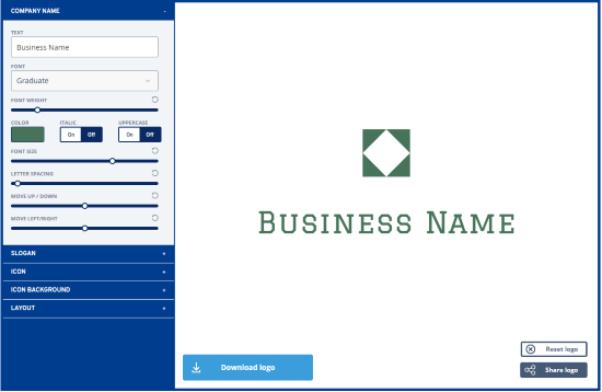 Logo Generator edit design