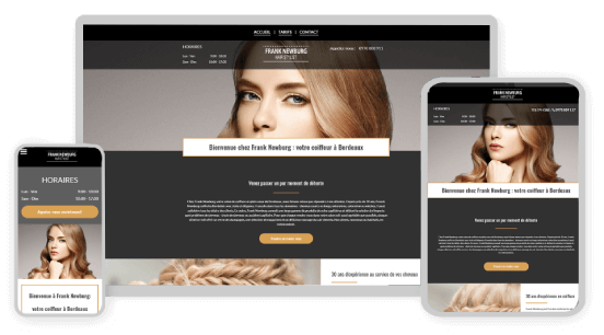 MyWebsite design service example coiffure