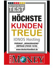 Award_Hoechste Kundentreue_2020_1u1 IONOS Webhosting
