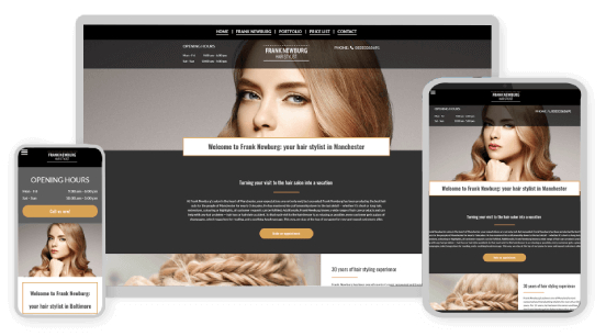 MyWebsite design service example hair stylist