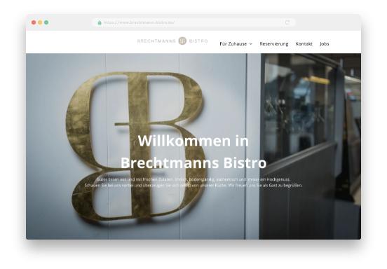 Brechtmanns Bistro Website mit Homepage-Baukasten erstellt, MyWebsite Vorschau