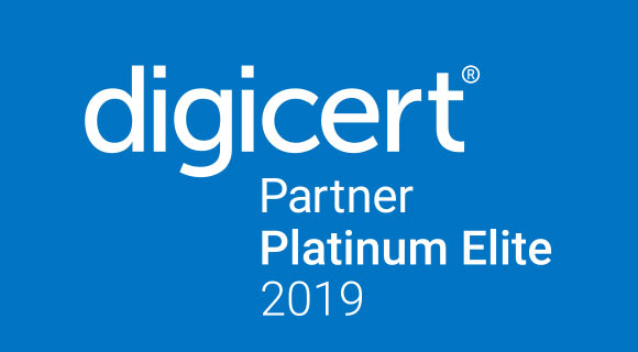 Logo Platinum Elite 2019 di Digicert Partner Platinum Elite