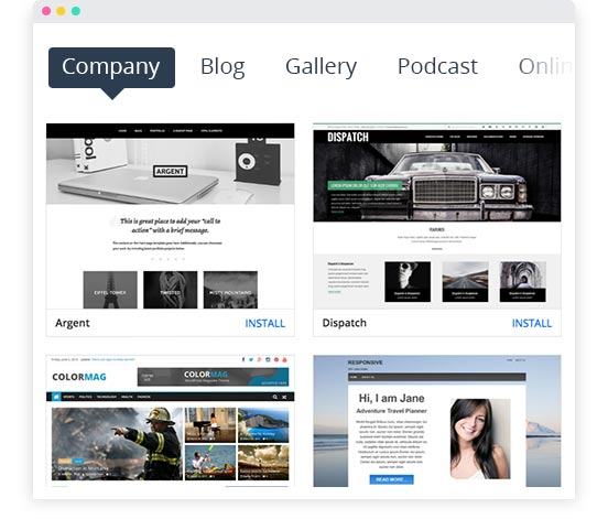 Sitio web corporativo de WordPress; plantilla de negocio de WordPress