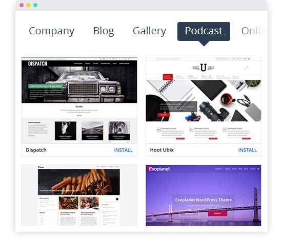 WordPress Podcast Website; Podcast template