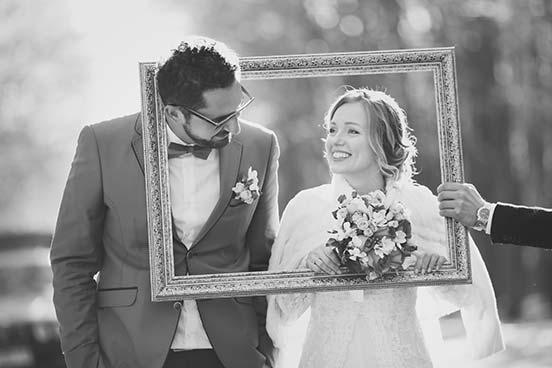 Hochzeitsfotografie in schwarz-weiß