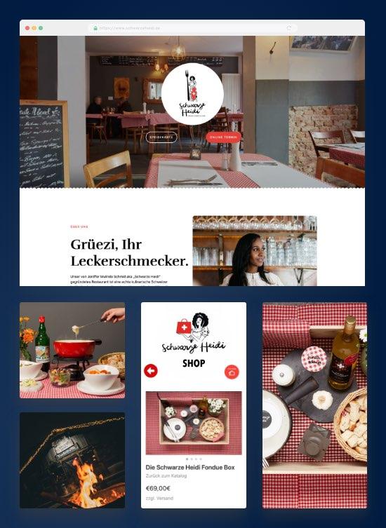 Schwarze Heidi - Restaurant Berlin mit Shop-Integration von IONOS
