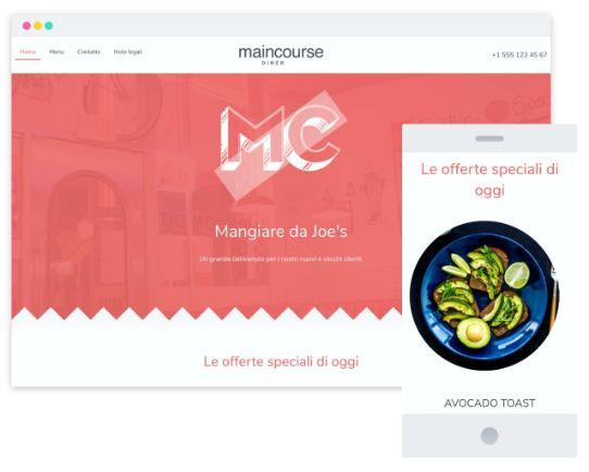Mywebsitenow templates restaurant IT