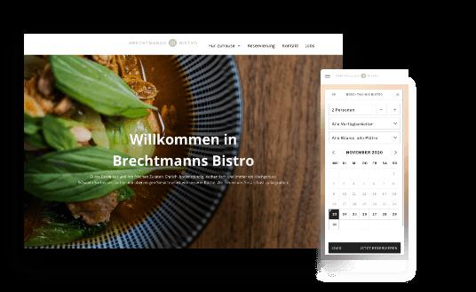 Brechtmanns Bistro Website mit Responsive Design