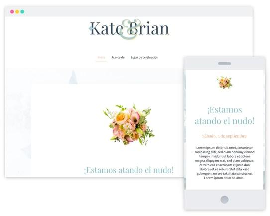 Mywebsitenow templates wedding ES_MX