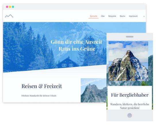 Mywebsitenow templates travel DE