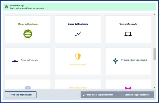 Generatore di logo seleziona il logo
