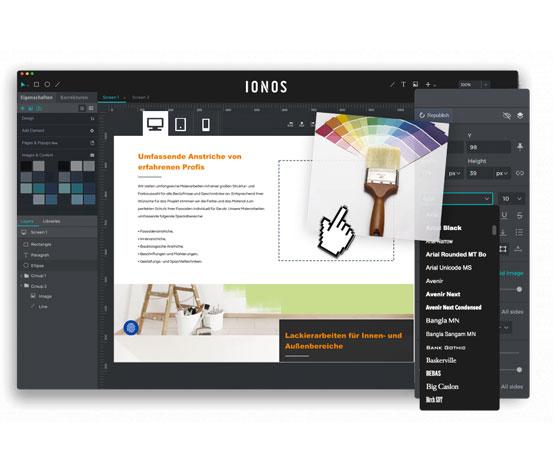 Media Text Testimonial Maler Design Service