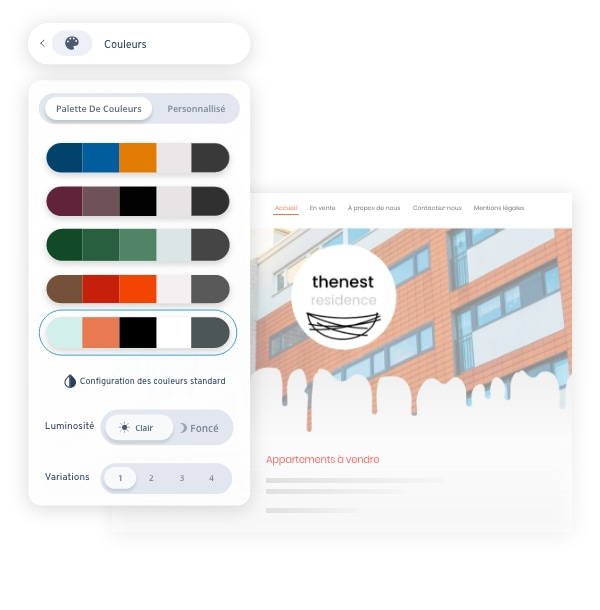 MyWebsite Now Editor Colours