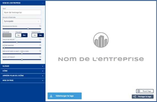 Générateur de logo éditer le logo